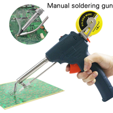 60W 50HZ Soldering Tool Hot Melt Pistol High Temperature Durable Adjustable Portable Electric Iron Handheld Green