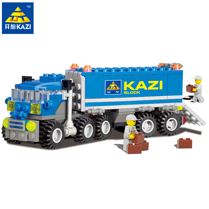 KAZI Christmas gift Enlighten Child 6409 educational toys Dumper Truck  DIY toys building block sets,children toys new original kazi 6409 city truck model building blocks sets 163pcs lot deformation car bricks toys christmas gift toy sa614
