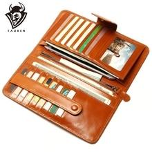 Multi-Card Multi-สีแฟชั่นคลัทช์ น้ำมันกระเป๋าสตางค์หนังยาวหนังกระเป๋าสตางค์ผู้ถือคุณภาพดีกระเป๋าซิป ผู้หญิง
