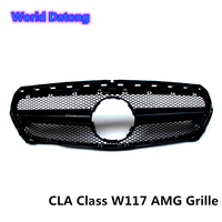 W117 Facelift AMG Front Grille for Mercedes CLA Class ABS material C117 For Benz Car Styling Grill CLA250 CLA180 2013 2018