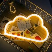 LED 3D Cloud Heart Stars Lightning Moon Love Shape Night Lights Marquee Letter Night Lamp For
