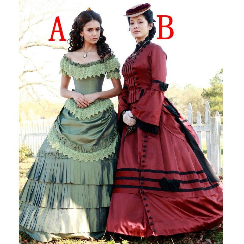 Prairies Victorienne Gothique Robes vitage Custom Halloween Sc Film Made Théâtre 119 Des Chic Robe 3jS5A4LqcR