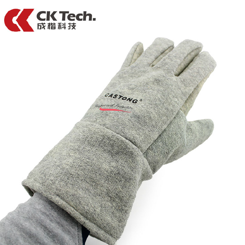 ФОТО CK Tech Brand Heat Resisting Work Safety Gloves Anti-scald Cutting Safety Glove Microwave Oven No-slip 350 Degrees Glove 15-34