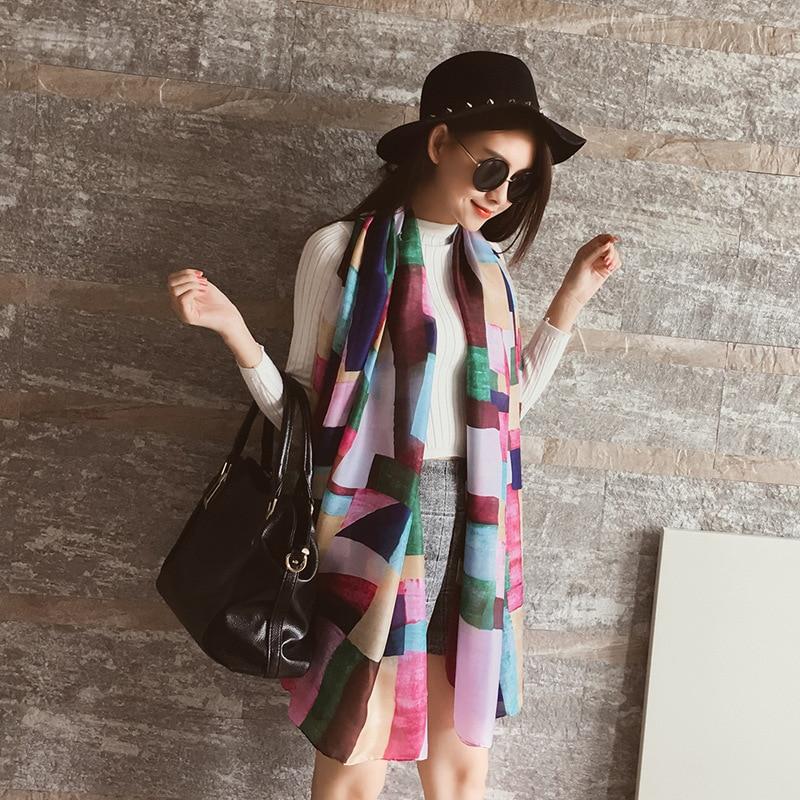 Size 180*90cm 2017 New Silk Scarves Beacs