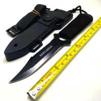Leggings/Paratroopers Steel Diving Straight knife Outdoor Survival Camping Tactical Knife with ABS Case Sheath SDIYABEIZ