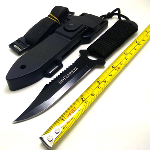 Leggings/Paratroopers Steel Diving Straight knife Outdoor Survival Camping Tactical Knife with ABS Case Sheath SDIYABEIZ(China)