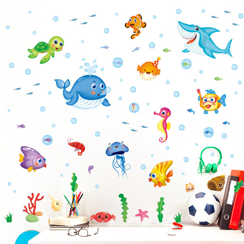 Cartoon Childrens Bedroom Decoration Removable Wall Sticker