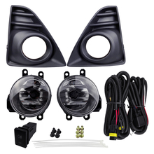 Vehicle Fog Light Assembly Plating Cover Replacement for Toyota Yaris 2014 4300K Yellow 12V 55W ABS Car Daytime Running