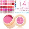 #50618 venta caliente de 141 colores del arte del clavo canni empapa de pintura Gel UV LED de Tinta UV Gel de Color Para El Arte de Uñas Diseños