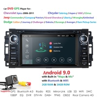 1 din Auto Radio Android 9.0 Car DVD Player For Chrysler 300c jeep Compass/Dodge/RAM/Grand Cherokee Wrangle GPS Navi Head Unit