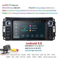 1 din Auto Radio Android 9.0 Car DVD Player For Chrysler 300c jeep Compass/Dodge/RAM/Grand Cherokee Wrangle GPS Navi Head Unit