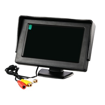 4.3'' innch Color TFT LCD DC 12V Car Monitor Rear View Headrest Display with 2 Channels Video Input for DVD VCD Reversing Camera image