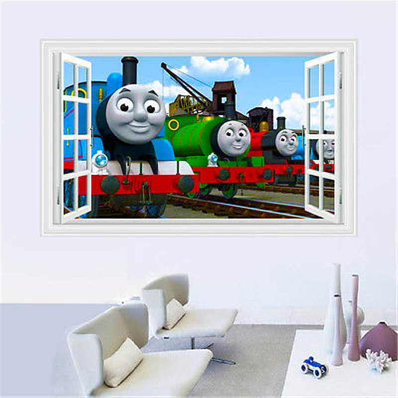 Thomas Friends Train Removable Wall Sticker Decals Decor kids Baby