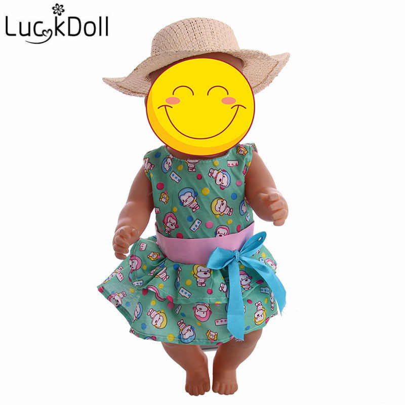 Luckdoll Mini Doll Clothes Accessories Sun Hat is suitable for 18-inch American dolls and 43 cm baby doll toy holiday gifts.