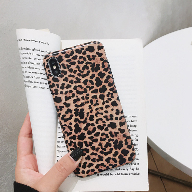 Leopard Phone Case For iphone - Luxury Soft Cases Matte Capa 1