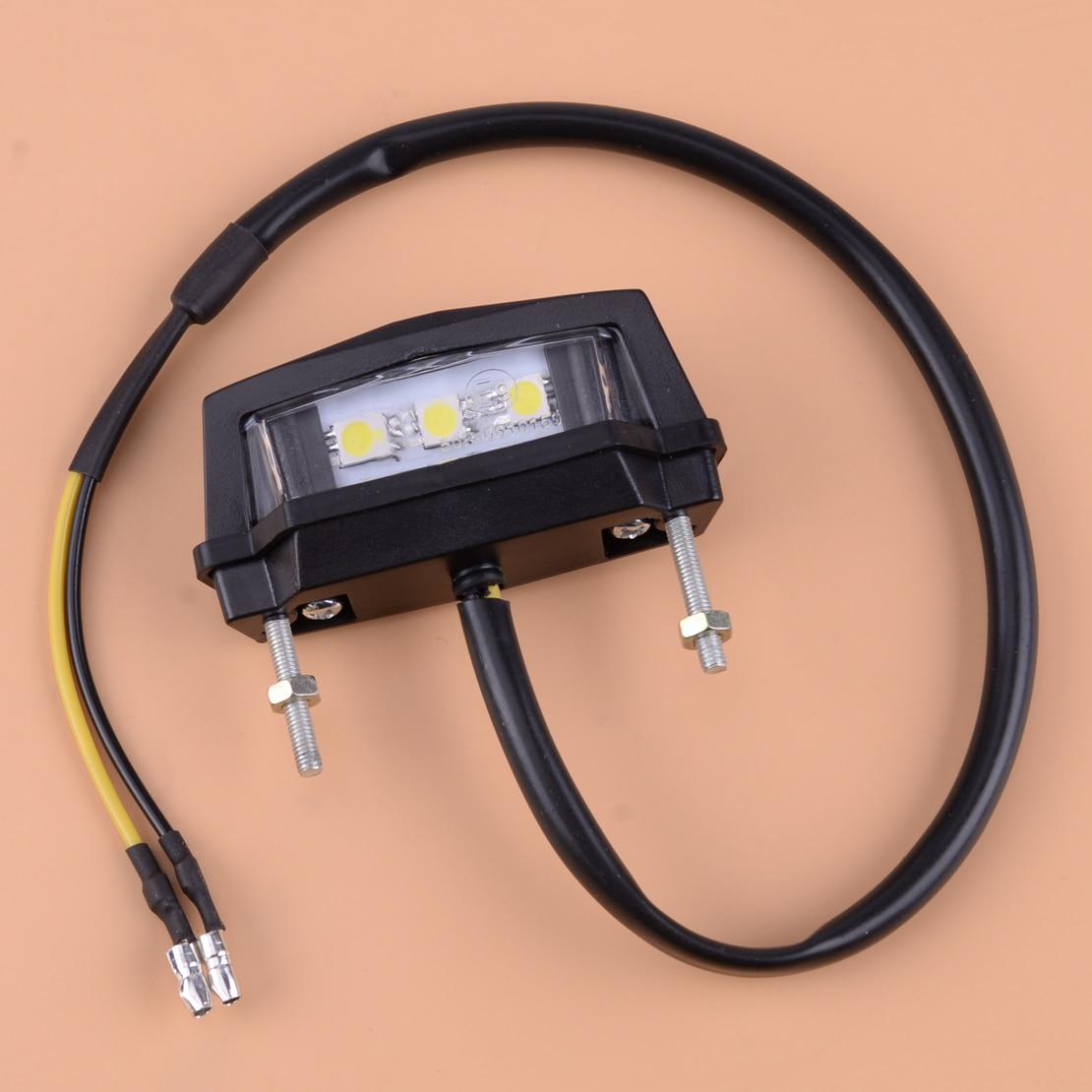 DC 12V Motorcycle License Plate Mount Holder Bracket LED Tail Brake Light Lamp Indicator Fit For Off-Road Vehicles ATV