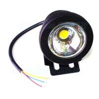 4pcs Black Cover LED Underwater Light Pool IP68 10W blue green red Underwater LED Lights flat lens