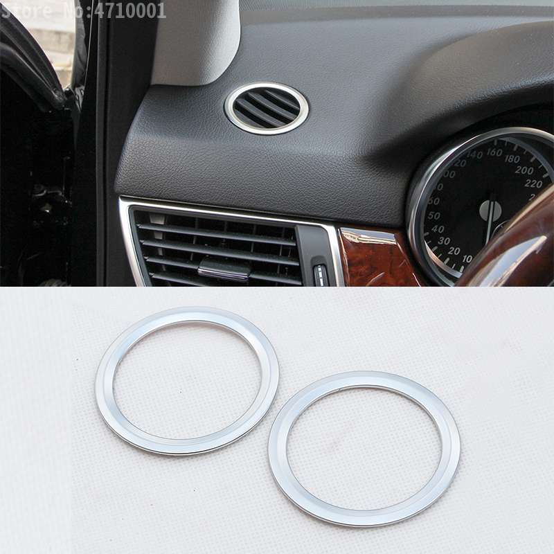 2pcs ABS Car Interior Dashboard Side Air Condition Vent Outlet Ring Cover Trim For <font><b>Mercedes</b></font> Benz GLK X204 ML <font><b>W124</b></font> GL X164 image