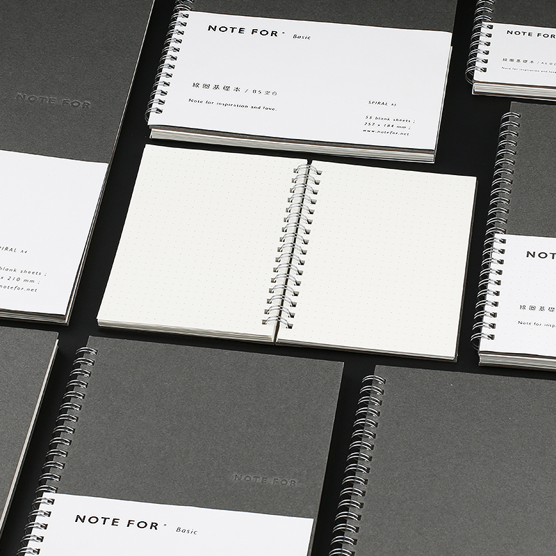 High Quality A6/5 B5 A4 Muji Style Notebooks Loose-leaf Diary Book Spiral Notebook Coil Planner Blank/Dots Inner Hard Copybook mirui small fresh loose leaf notebook korea simple b5 coil detachable refill student notebook a5 book a4