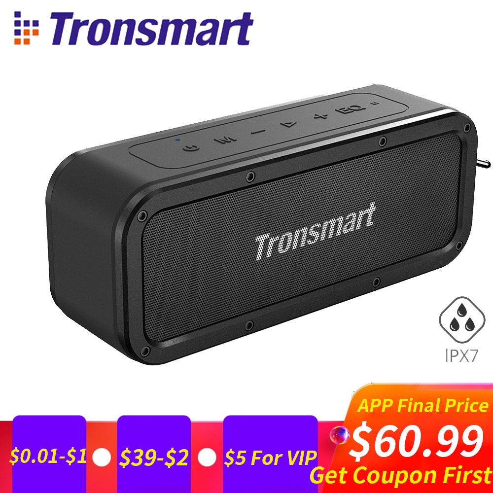 Tronsmart Force enceintes portables bluetooth 40 W IPX7 Étanche Musique Surround En Plein Air Haut-Parleur Microphone Haut-Parleur pour téléphones