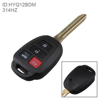 314Hz 3 Buttons Remote Car Key Fob Transmitter Clicker Alarm Auto Car Key Shell Case Replacement
