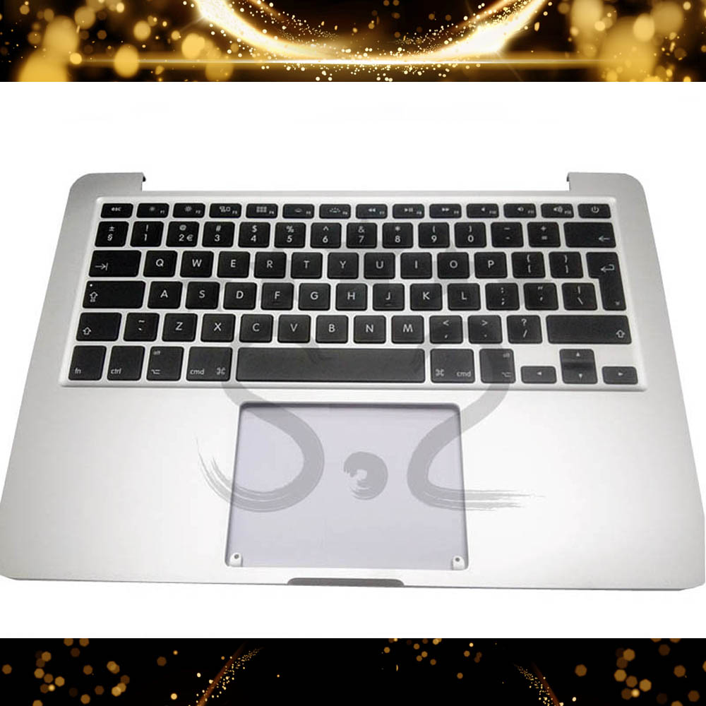 UK Topcase High Quality For Macbook Pro Retina 13 A1502 Topcase Palmrest With Keyboard Blacklit 2015 MF839 MF841 image