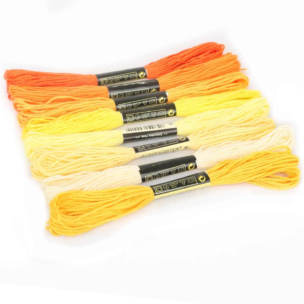 Multicolore 8 Pcs Simili DMC Filo Punto Croce di Cotone Per Cucire Matasse Filo da Ricamo Fili e cotoni per ricamo Kit Cucito FAI Da TE
