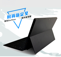 KH Laptop Carbon Fiber Crocodile Snake Leather Sticker Skin Cover Guard Protector For 2017 New Microsoft