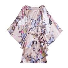 Модный женский летний халат, китайский женский халат из искусственного шелка, ночная рубашка юката, ночная рубашка, ночная рубашка, пижама, Mujer, один размер