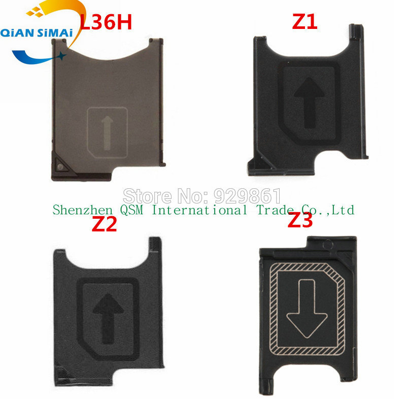 Genuine SIM Card Tray Holder Slot Socket Adapter Module  Repair Parts For Sony Xperia Z L36h / Z1 L39h / Z2 L50w / Z3