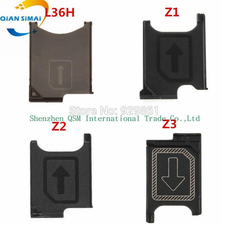 Genuine SIM Card Tray Holder Slot Socket Adapter Module  Repair Parts For Sony Xperia Z L36h / Z1 L39h / Z2 L50w / Z3