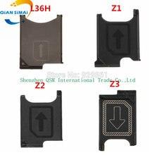 QiAN SiMAi Genuine SIM Card Tray Holder Slot Socket Adapter Module  Repair Parts For Sony Xperia Z L36h / Z1 L39h / Z2 L50w / Z3