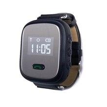 2017 Nueva Silicona Inteligente Rastreador Mini GPS Perseguidor Impermeable Inteligente reloj de 0.96 Pulgadas Para Los Niños Y Anciano Con SOS función