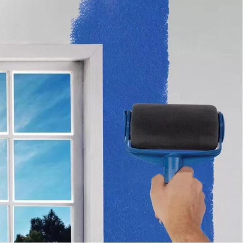 8 unids piezas de pared multifuncional de rodillo de pintura decorativa herramientas de cepillo uso doméstico de oficina para operar herramientas de pincel de pintura