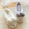 Pantofole Донна Животных Мужская Обувь Mujer Pantuflas Тапочки Женщин Главная Зима Симпатичные Короткие Плюшевые Щурясь Овец Chinelo Masculino