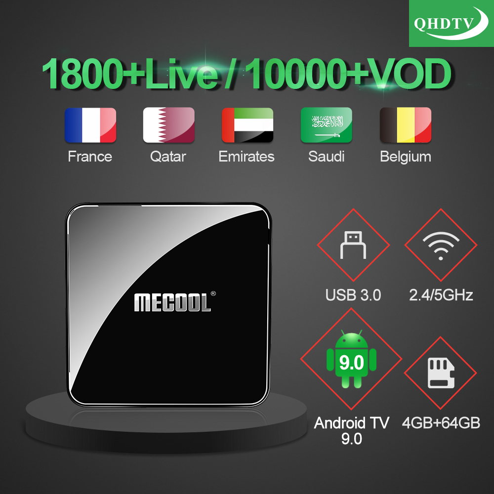 IPTV France Arabic KM3 ATV Box Google Certified IP TV 1 year QHDTV IPTV Belgium Germany Netherlands IPTV French IP TV Morocco-in Set-top Boxes from Consumer Electronics