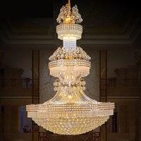 Современные люстры блеск Led большой K9 золото хрустальные люстры Гостиная лобби Отель Villa инженерно