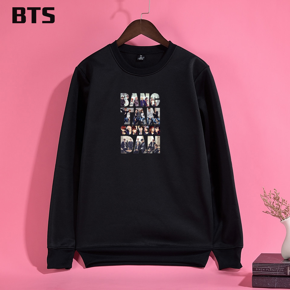 China-01 Store BTS Kpop Hoodies Mulheres New European Style Harajuku Sweatshirt Women Plus Size Hipster Brand Women Hoodies Sweatshirts Winter