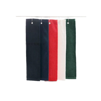 цена Golf Towel 1pcs 100% Cotton Size 40X60cm with metal hook washcloth Golf accessories free shipping онлайн в 2017 году