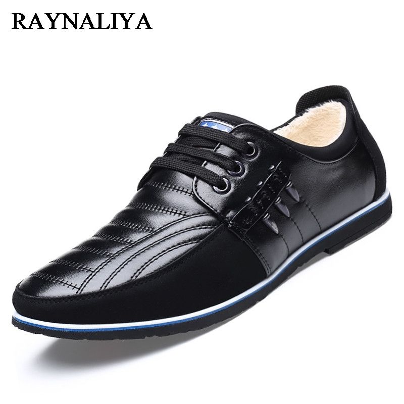 High Quality Hot Sale Men Genuine Leather Shoes Winter Plush Velvet Men's Fashion Flat Shoes Lace Up Male Casual Shoes BH-B0002 amaginmni high quality leather casual shoes men loafers man hot sale men vintage genuine men s fashion flat shoes lace up male