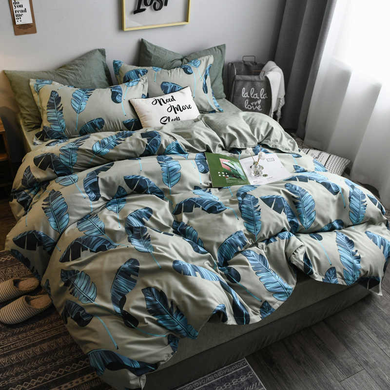 Comforter Bedding Sets luxury Stars Plaid 3/4pcs Family Set Sheet Duvet Cover Pillowcase Room flat sheet , Double sided bed sets