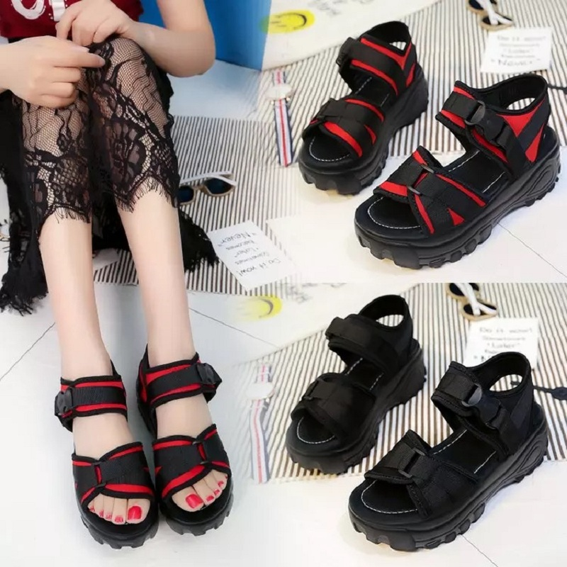 Summer Women Sandals Open Toe Flip Flops Womens Sandles Thick Heel Women Genuine Leather Shoes Woman Gladiator Slippers