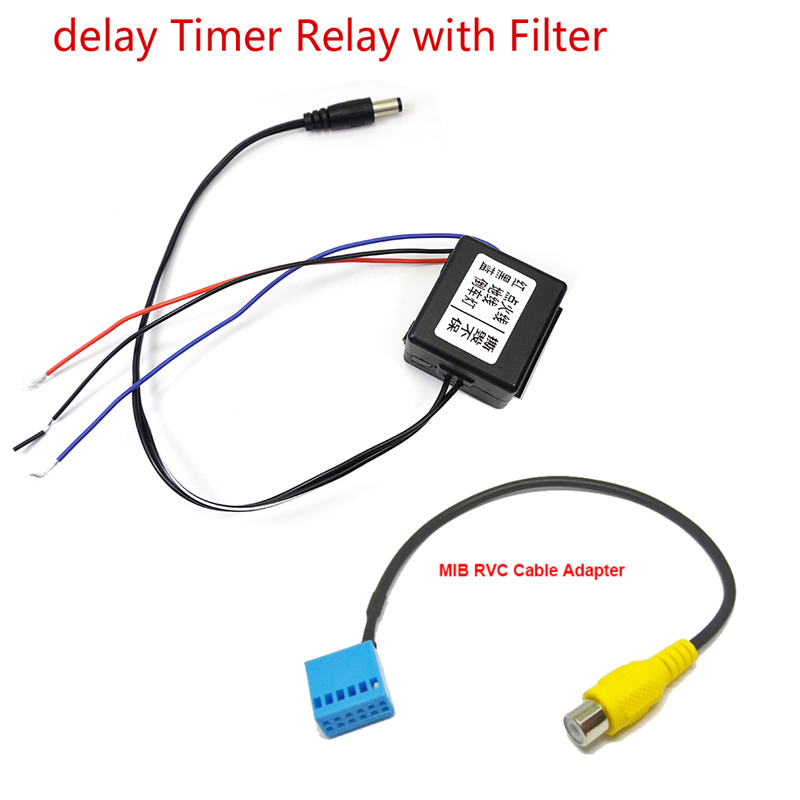 Car Rear Front Camera Power Delay Timer Relay Filter Rectifier PQ MIB Conversion For VW BMW BENZ Audi Skoda Germany Series