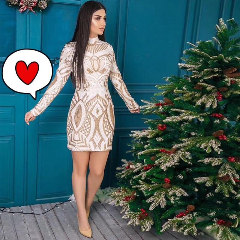 Celebrity Wedding Outfits 2019: 2019 Elegant White Black Sequin Celebrity Wedding Party