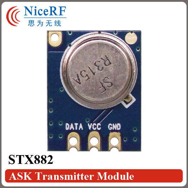 5pcs Ultra-High-Power And Low Harmonic STX882 315MHz Superheterodyne ASK Transmitter Module With Spring Antenna