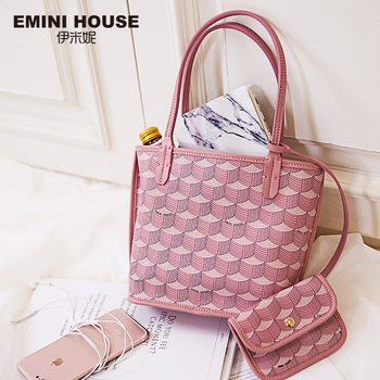 EMINI HOUSE PVC Women Tote Bag Luxury Handbags Women Bags Designer Crossbody Bags For Women Composite Bag Top-Handle Bags