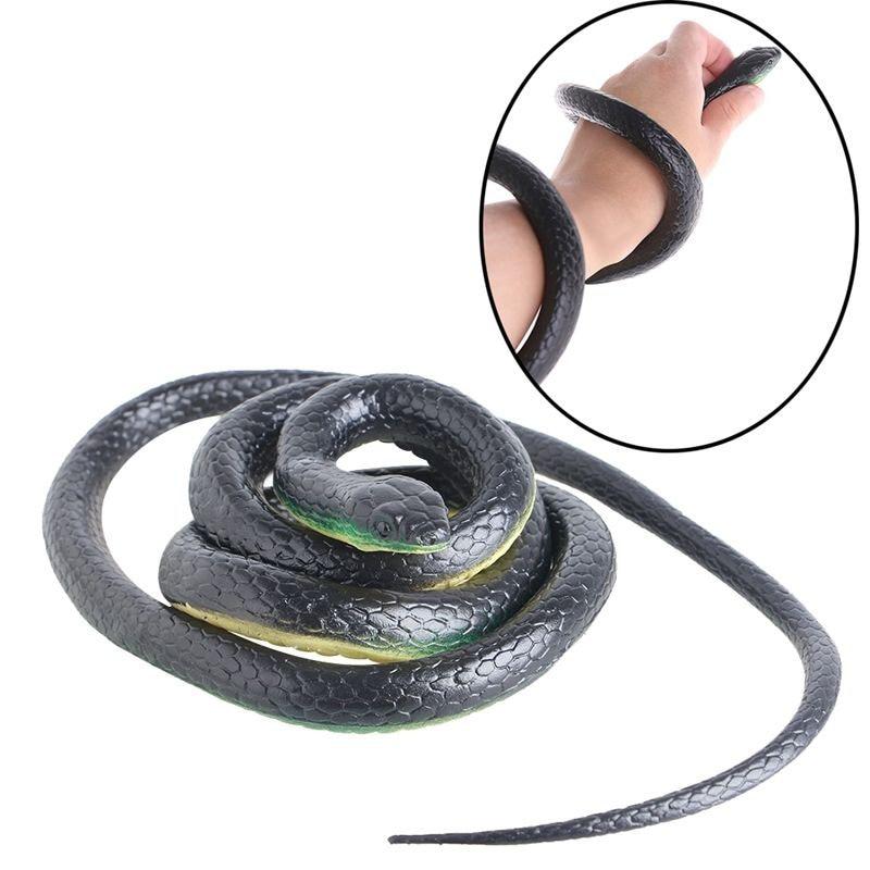 130cm Tricky Toy Realistic Fake Snakes Rubber Garden Props Joke Prank Horror Snake Spoof Toy Gift BM88