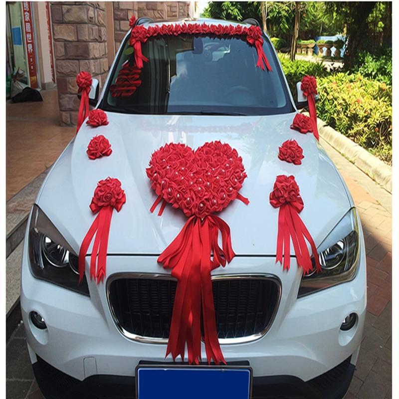 2017 NUEVA cinta bowknot PE flor color de rosa flor de la boda del - Para fiestas y celebraciones