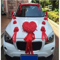 2017-new-ribbon-bowknot-pe-rose-flower-wedding-car-flower-decoration-set-flower-garland-pull-flower-diy