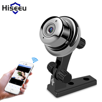 Mini Wireless WiFi Camera IP 720P Night Vision Video Monitor Home Security Surveillance Audio 360 Degree Panoramic Camera Hiseeu